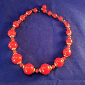Retro Red Necklace